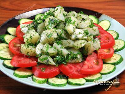 Potato Salad with Tomatoes and Cucumbers