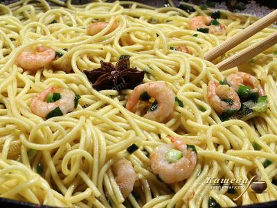 Egg Noodles with Shrimps