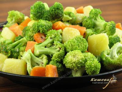 Broccoli, Carrot and Potato Salad