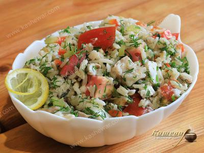 Fish Salad with Rice and Vegetables