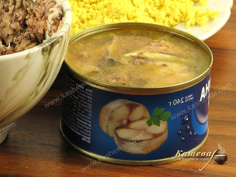 Canned fish in oil – recipe ingredient