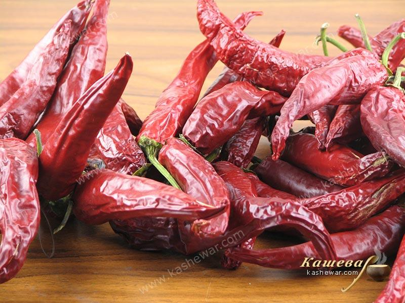 Dried hot peppers – recipe ingredient