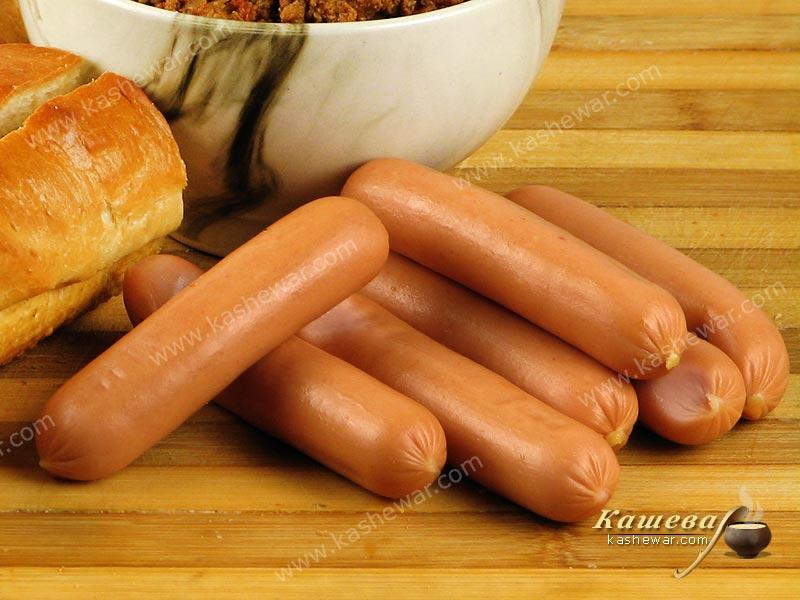 Frankfurter sausages – recipe ingredient