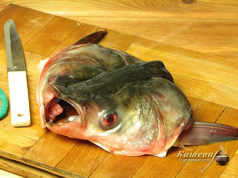 Head of silver carp – recipe ingredient