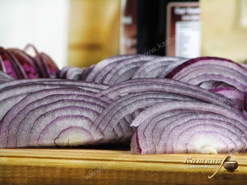 Purple onion – recipe ingredient