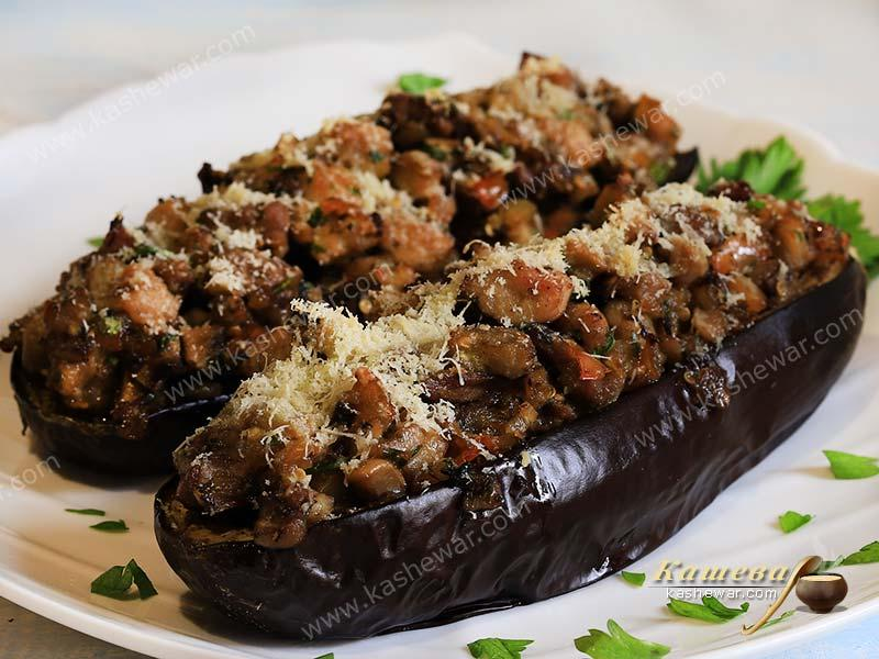 Eggplant with meat and mushrooms – recipe with photo, Spanish cuisine