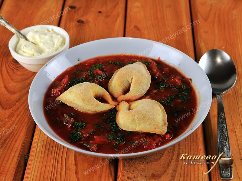 "Mushroom borsch with ""ears"" – recipe with photo, Ukrainian cuisine"