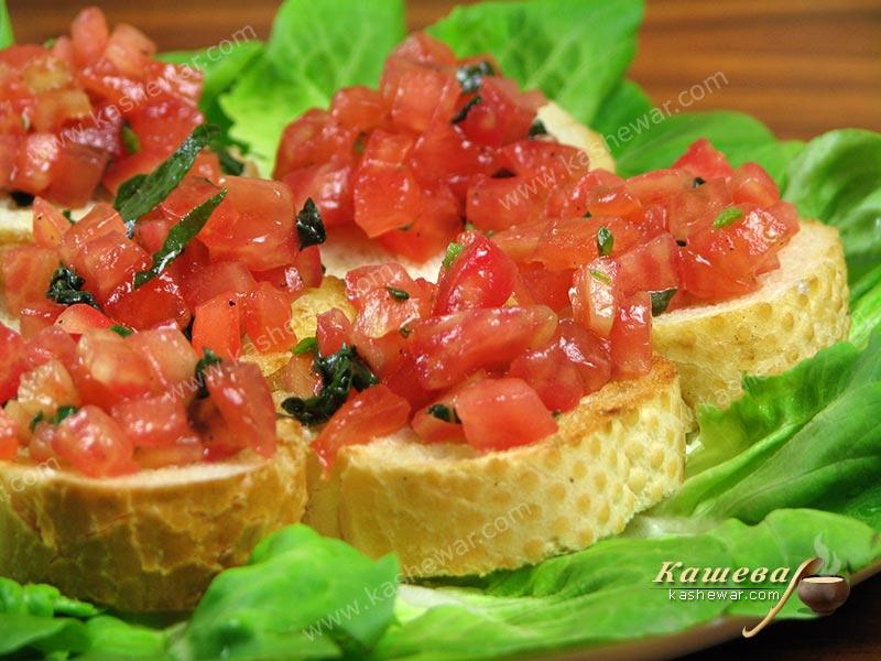 Tomato basil bruschetta – recipe with photo, Italian cuisine