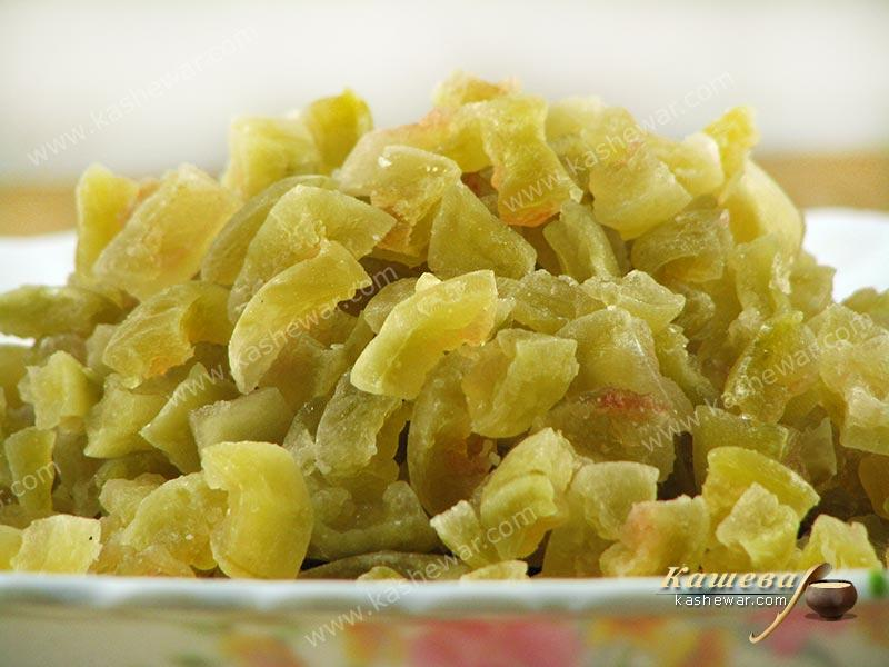 Candied watermelon rinds – recipe with photo, food preservation for the winter