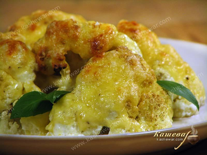 Cauliflower baked with cream and cheese – recipe with photo, British cuisine