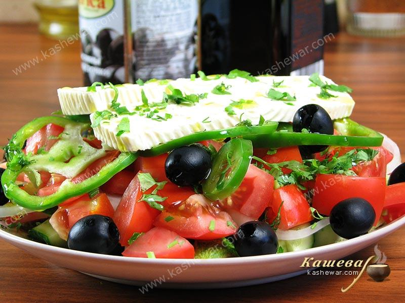 Greek salad – recipe with photo, Greek cuisine