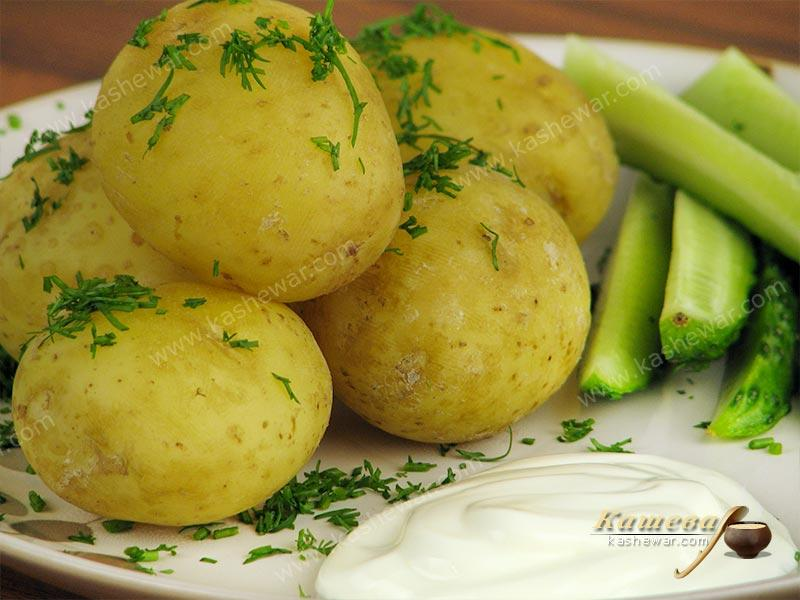 New potatoes with sour cream – recipe with photo, Belarusian cuisine