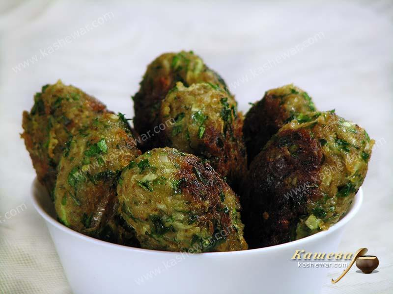 Zucchini keftedes – recipe with photo, Greek cuisine