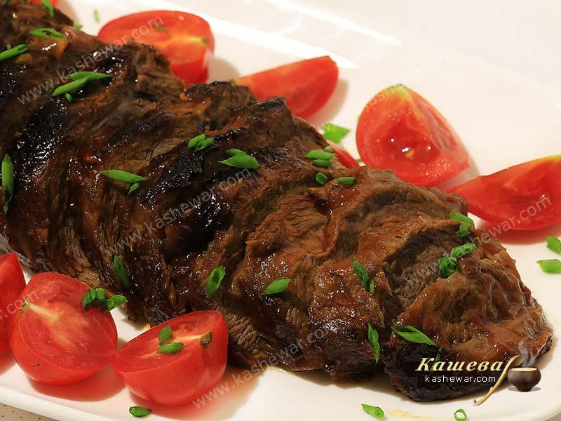 Sweet and sour beef brisket – recipe with photos, Jewish cuisine