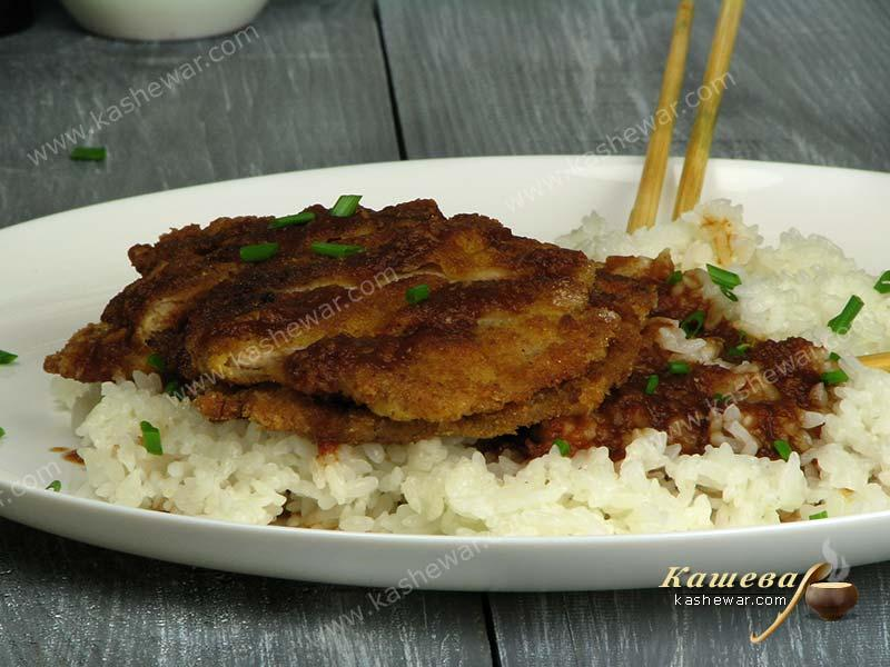 Pork cutlet (Donkkaseu) – recipe with photo, Korean food