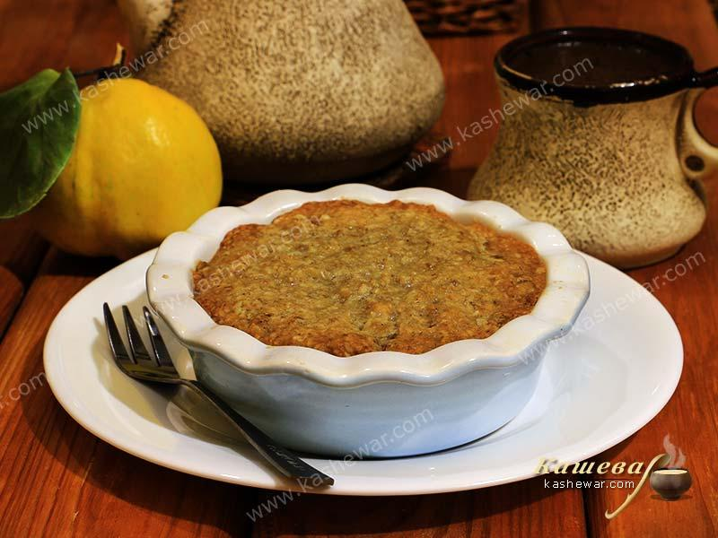 Cereal quince crumble – recipe with photo, English cuisine