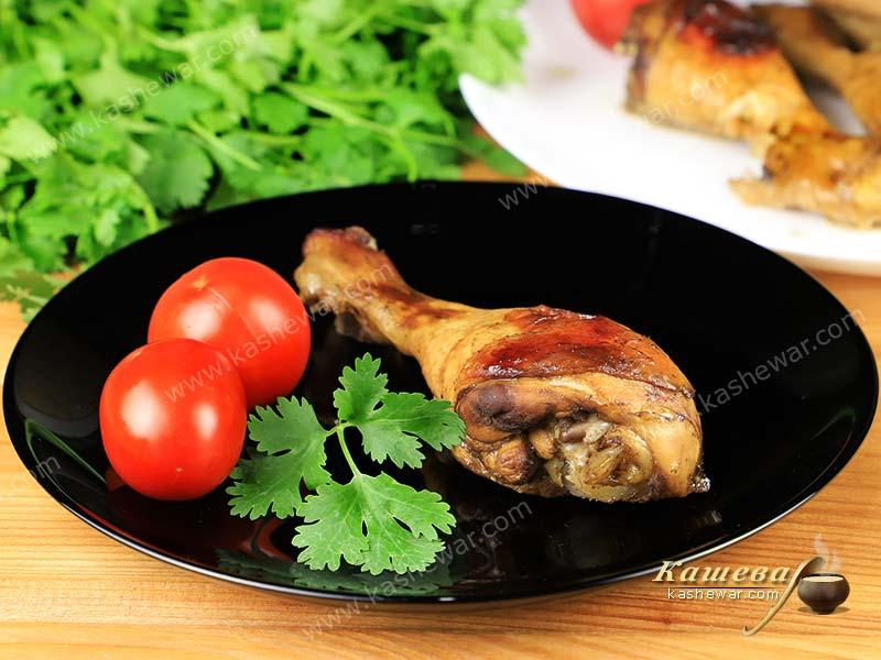Chicken legs in honey sauce – recipe with photos, Jewish cuisine