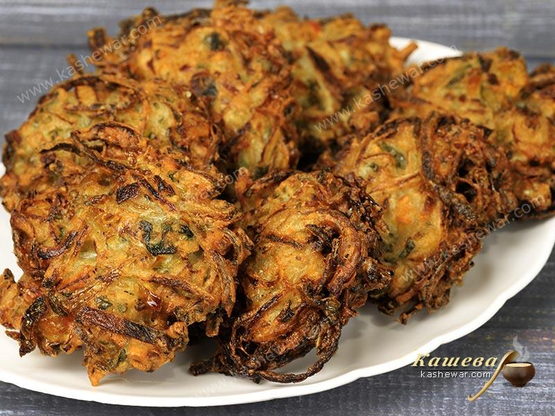 Onion Bhaji Fritters – recipe with photo, Indian cuisine
