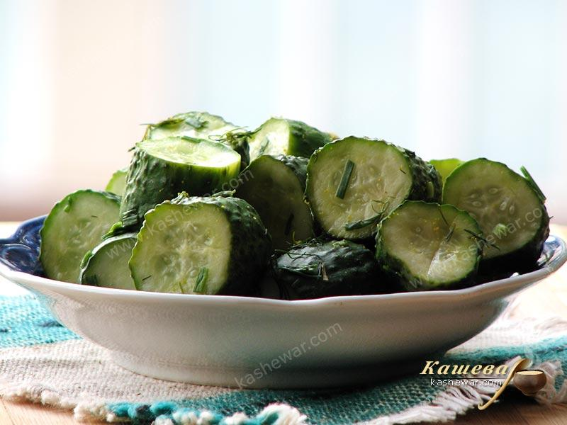 Lightly salted cucumbers – recipe with photo, Ukrainian cuisine