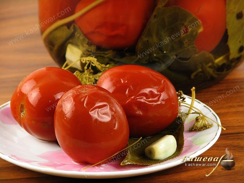 Pickled tomatoes – recipe with photo, food preservation for the winter