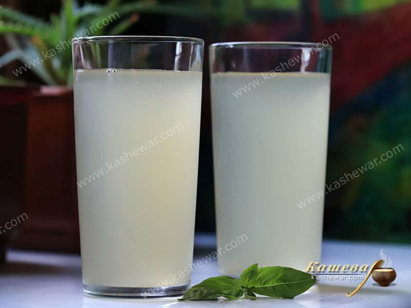 Ginger and basil drink – recipe with photo, drinks