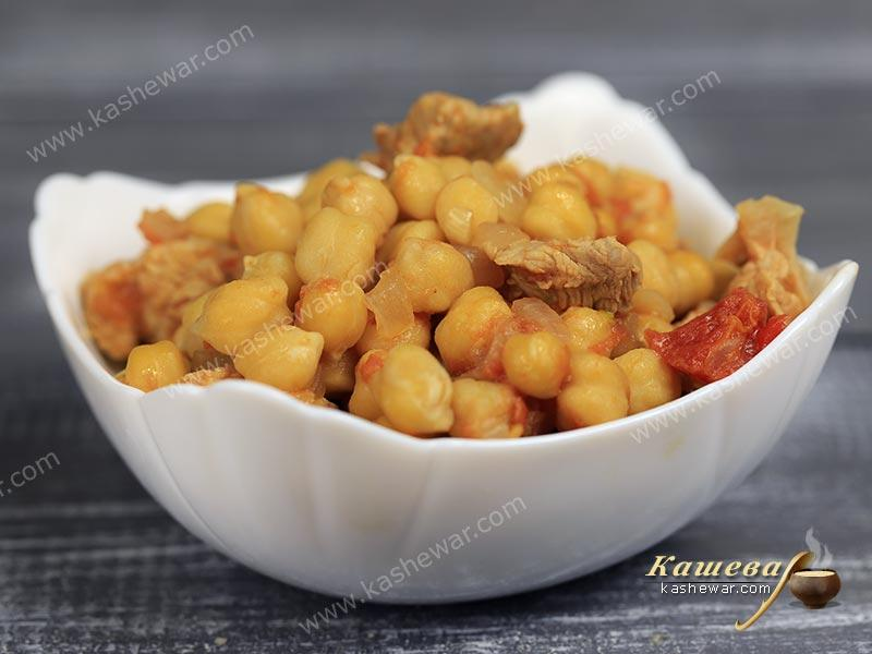 Chickpeas with pork – recipe with photo, Spanish cuisine
