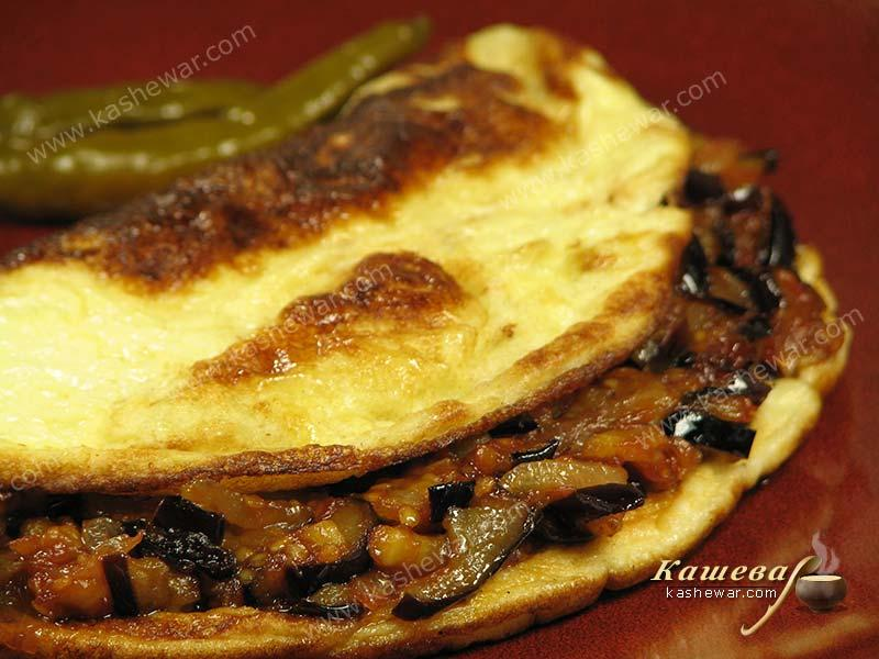 Eggplant omelet with Tabasco sauce – recipe with photo, Mexican cuisine