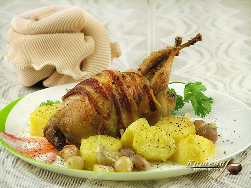 Bacon-wrapped quail – recipe with photo, French cuisine