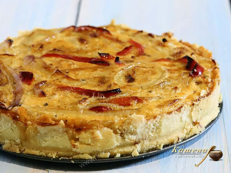 Pie with Onions and Bell Peppers – recipe with photo, Italian cuisine