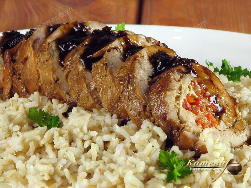 Stuffed turkey breast roll – recipe with photo