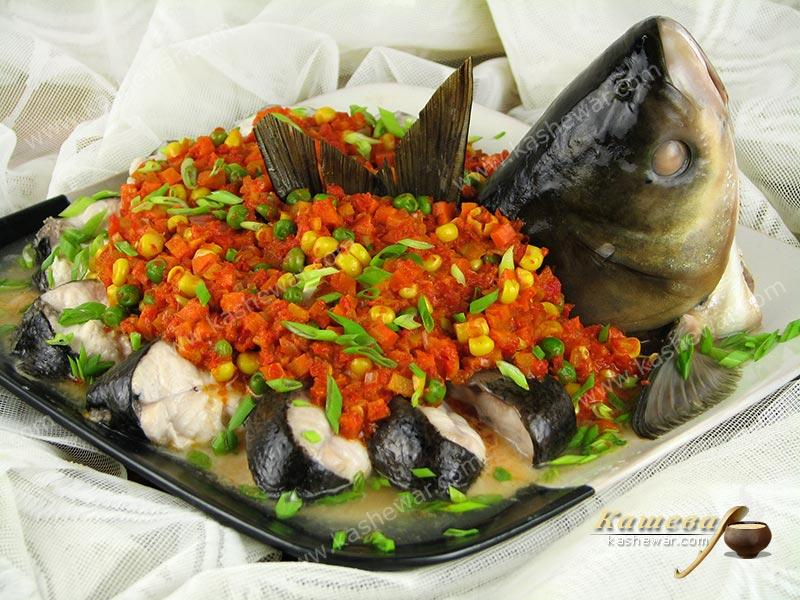 Spring style steamed fish – recipe with photo, Chinese cuisine