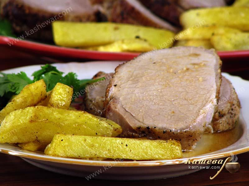 Pork loin baked with orange zest – recipe with photos