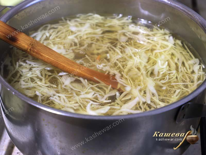 Cabbage in borsch