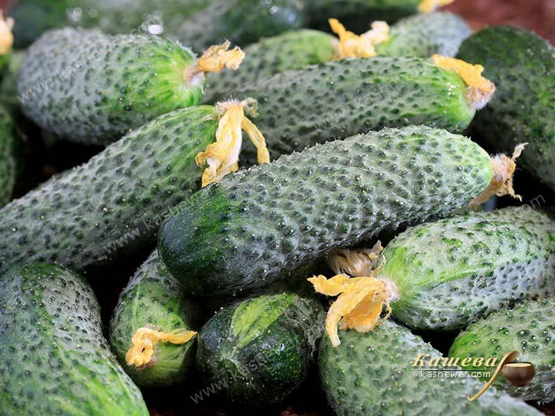 Cucumbers with flowers