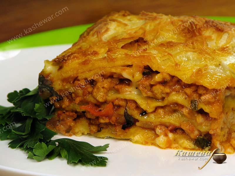 Lasagne with Bolognese sauce