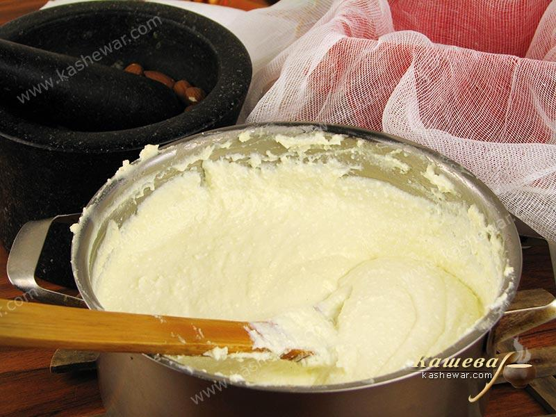 Pasteurization of curd
