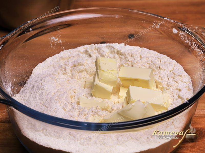 Flour with butter
