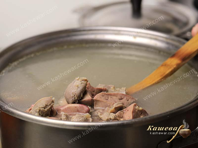 Offal in broth