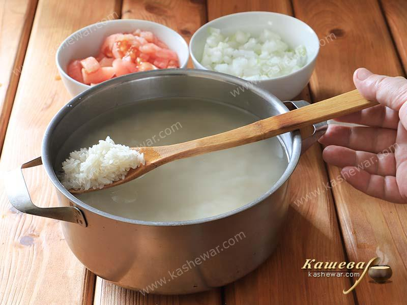 Rice for cooking pilaf
