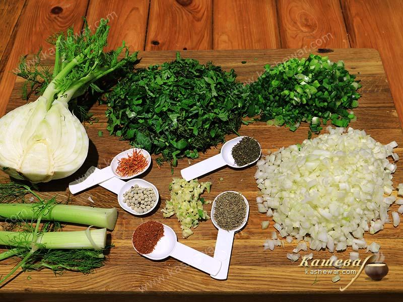Ingredients for fish stuffing