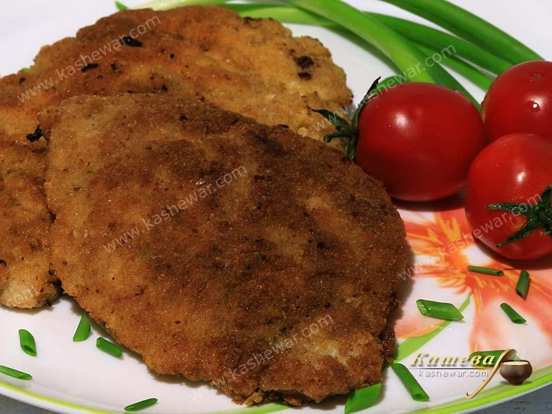 Pork cutlet or schnitzel