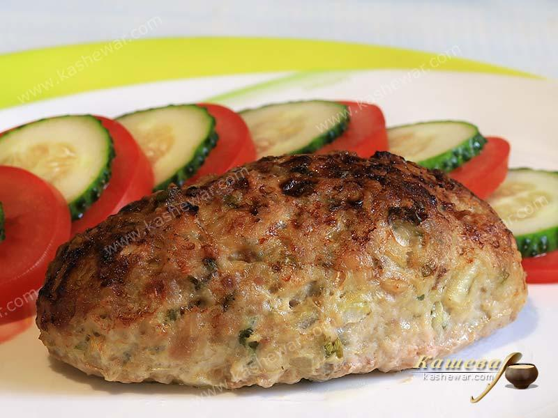 Pork cutlets with cheese