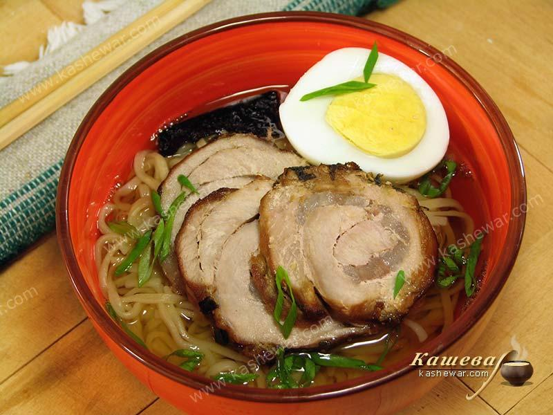 Tokyo-style ramen noodle soup – recipe with photo, Japanese cuisine