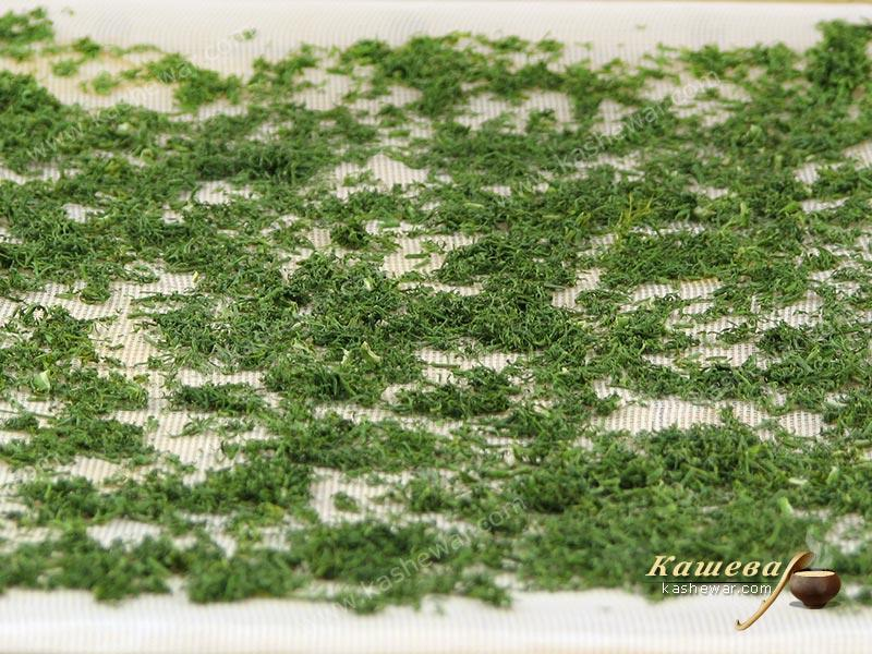 Dried dill – recipe with photo, food preservation for the winter