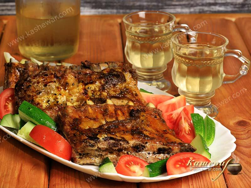 Pork ribs marinated in tea – recipe with photo, Georgian cuisine