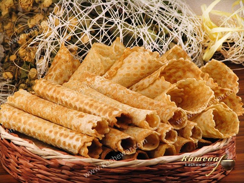 Wafer rolls – recipe with photo, German cuisine