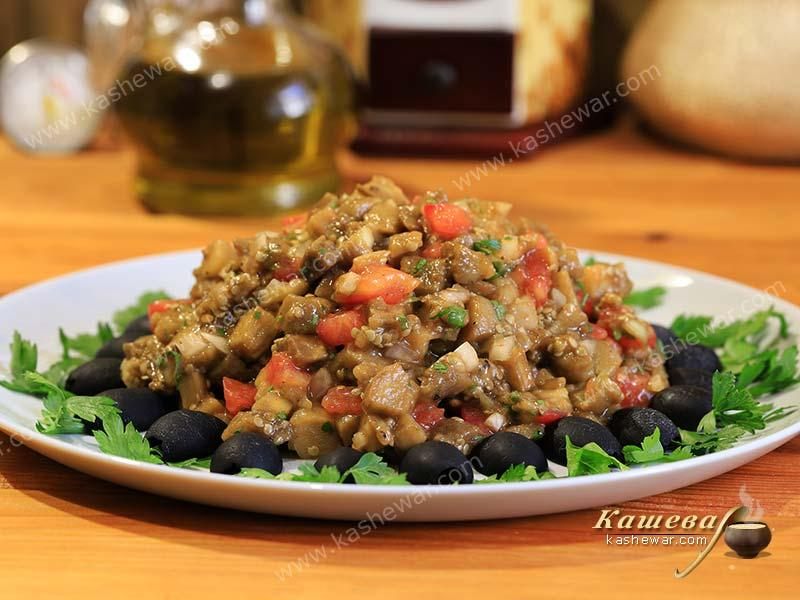 Baked eggplant appetizer – recipe with photo, Greek cuisine