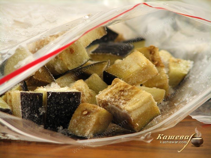 Frozen eggplants – recipe with photo, food preservation for the winter