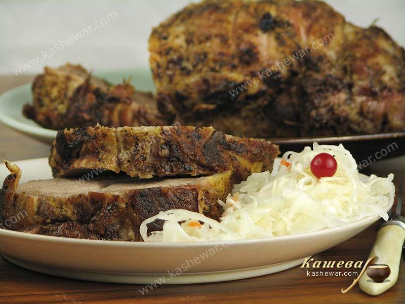 Baked pork neck – recipe with photos, main dishes